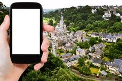 Tourist photographs of town Dinan, France Stock Image