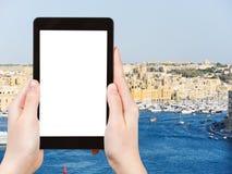 Tourist photographs of Valletta city , Malta Royalty Free Stock Image