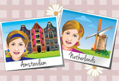 Tourist photos in Europe Royalty Free Stock Images