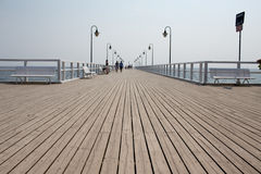 Tourist on the pier. Stock Photo