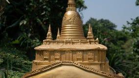 Tourist place Wat Saket in Bangkok. Temple of the Golden Mount. Tourist placen Wat Saket in Bangkok. Temple of the Golden Mount Royalty Free Stock Image