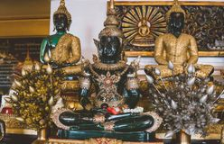 Tourist placen Wat Saket in Bangkok. Temple of the Golden Mount Stock Image