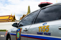Tourist police car Royalty Free Stock Images