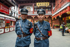Tourist police Fang Bang Zhong Lu old city shanghai china Royalty Free Stock Photography