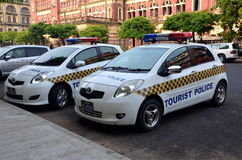 Tourist Police in Yangon Royalty Free Stock Photos