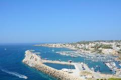 The tourist port Royalty Free Stock Photos