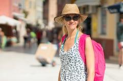 Tourist posing Stock Photography