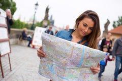 Tourist in Prague Royalty Free Stock Photos
