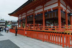 Tourist praying at front gate Royalty Free Stock Photo