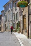 Tourist in Provence stock photography