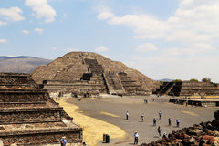 Tourist on the Pyramids of Teotihuacan, Mexico. Stock Image