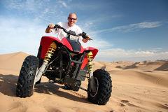Tourist on a Quad bike Royalty Free Stock Photos