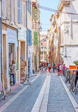 Tourist quarters of Marseille Stock Images