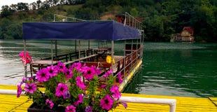 Tourist raft on the lake royalty free stock photo