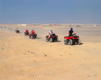 Tourist rally on ATVs in Hurghada. Egypt Royalty Free Stock Images