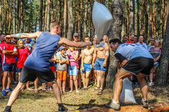 The tourist rally of young people in the Gomel region of the Republic of Belarus. Royalty Free Stock Photo