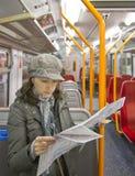 Tourist reading map Royalty Free Stock Photo