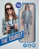 The tourist realistic doll Stock Photos