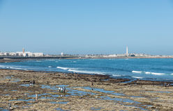 The tourist relax at the beach of Casablanca Royalty Free Stock Photography