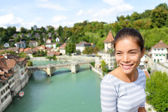 Tourist relaxing in Bern during Switzerland travel Royalty Free Stock Photography