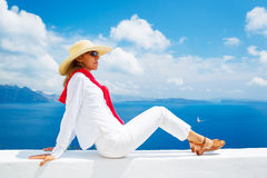 Tourist Relaxing on Vacation Royalty Free Stock Photos