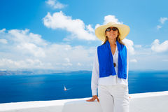 Tourist Relaxing on Vacation Stock Images