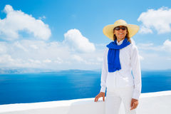Tourist Relaxing on Vacation Stock Image