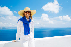 Tourist Relaxing on Vacation Royalty Free Stock Photo