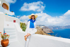 Tourist Relaxing on Vacation Royalty Free Stock Image