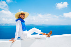 Tourist Relaxing on Vacation Royalty Free Stock Images