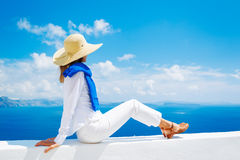 Tourist Relaxing on Vacation Stock Photography