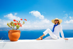 Tourist Relaxing on Vacation Stock Photo