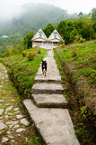 A tourist resort at hill top. A tourist resort made by wood at hill top in Rishap, near Kalimpong at Darjeeling.Rishap small village on the hill top can be Stock Photography