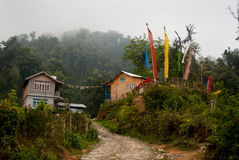 A tourist resort at hill top. A tourist resort made by wood at hill top in Rishap, near Kalimpong at Darjeeling.Rishap small village on the hill top can be Royalty Free Stock Photos