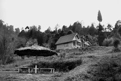 A tourist resort at hill top. A tourist resort made by wood at hill top in Rishap, near Kalimpong at Darjeeling.Rishap small village on the hill top can be Royalty Free Stock Photography