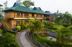 Tourist Resort inside forest Stock Images