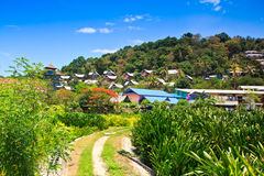 Tourist resort on the island Stock Image