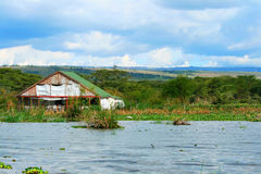 Tourist resort on the lake Naivasha Stock Image