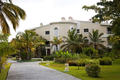 Tourist Resort at Punta Cana. Resort lodging building at Punta Cana,Dominican Republic royalty free stock image