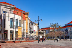 Tourist Resort Sopot. People on Monte Cassino street with many shops, clubs, galleries, on April 15, 2016 in Sopot, Poland Stock Image