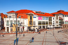 Tourist Resort Sopot. People on Monte Cassino street with many shops, clubs, galleries, on April 15, 2016 in Sopot, Poland Stock Photography