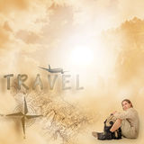 Tourist at rest Royalty Free Stock Photos
