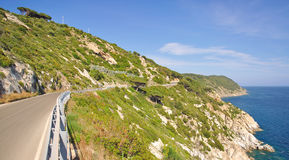 Tourist Road on Elba Island,Tuscany,Italy Royalty Free Stock Photography