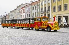 Tourist road train in Lvov Stock Photo