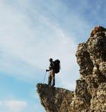 Tourist on the rock