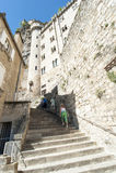 Tourist Rocmadour Stockfotos
