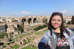 Tourist in Rom Italien stockfotografie