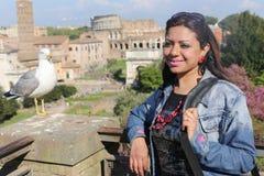 Tourist in Rom Italien stockfoto