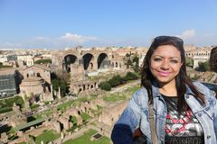 Tourist at Rome Italy stock photography