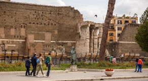 The tourist in Rome is looking for sightseeing! Stock Images